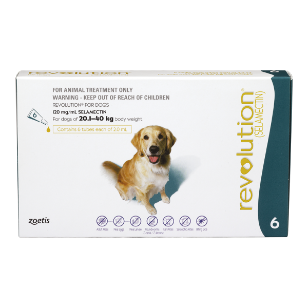 Revolution for Large Dogs 20-40kg - 2 x 6 pack with FREE 3 pack  ( exp 06/21 for 6 pack and 05/23 for 3 pack )