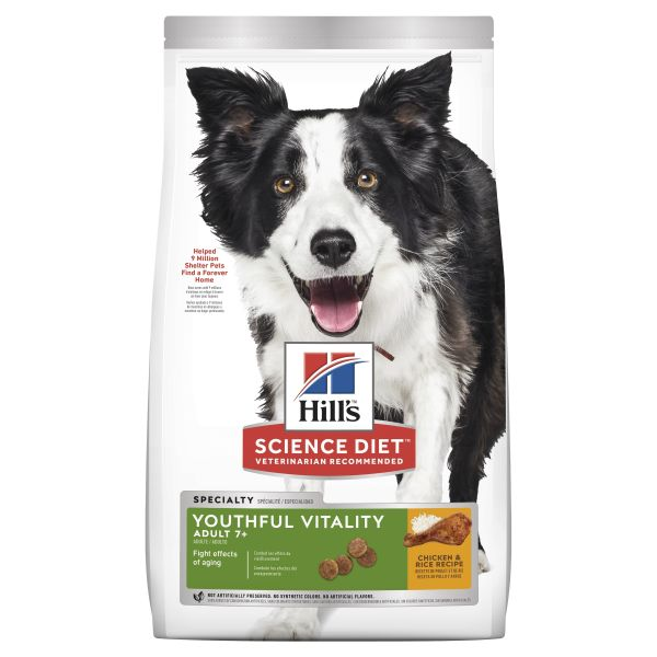 Hills Dog Adult 7+ Youthful Vitality 5.7kg