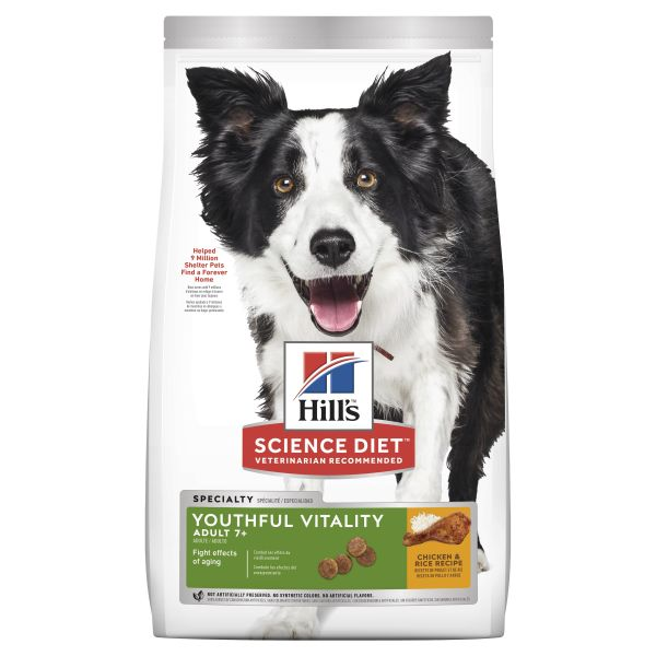 Hills Dog Adult 7+ Youthful Vitality 1.58kg