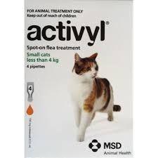 Activyl Cat Small 0.6-4kg 4-pk