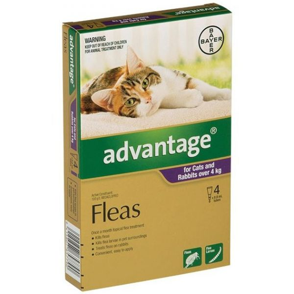 Advantage Large Cats >4kg 4-Pack