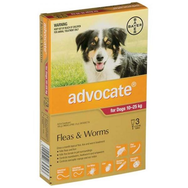 ADVOCATE Large Dog 10-25kg 3-Pack