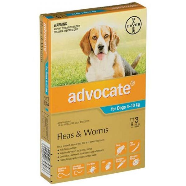 ADVOCATE Medium Dog 4-10kg 3-Pack