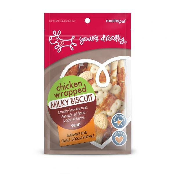 Yours Droolly Chicken Wrapped Milky Biscuits 100g