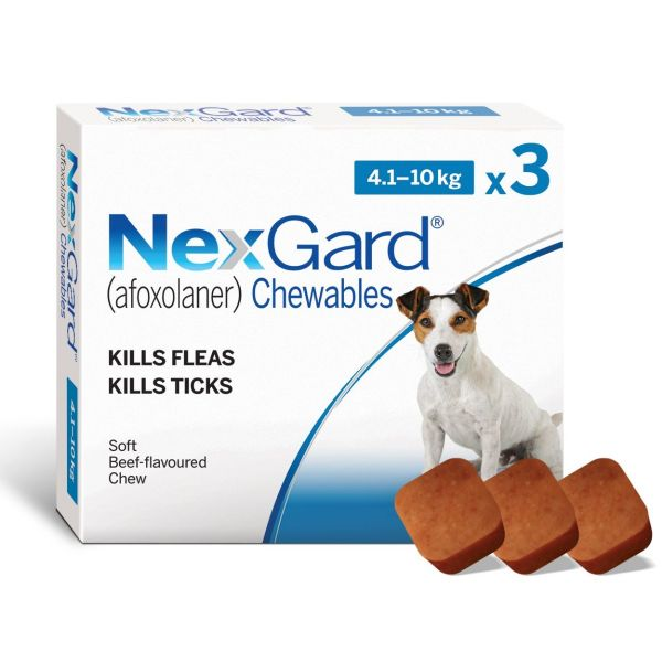 Nexgard  for  Small Dogs  3 Pack  4-10kg PLUS FREE SINGLE