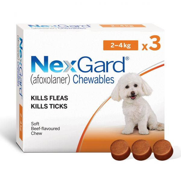 Nexgard for Very Small Dogs 3 Pack 2-4kg