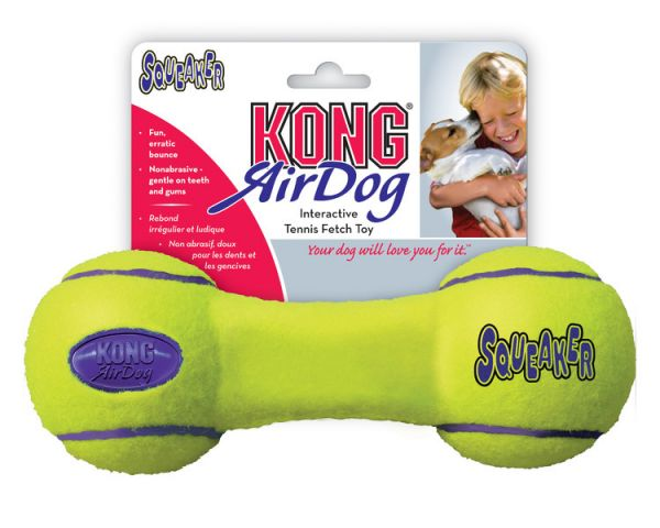 KONG Air Dumb Bell Squeaker Dog Toy Large
