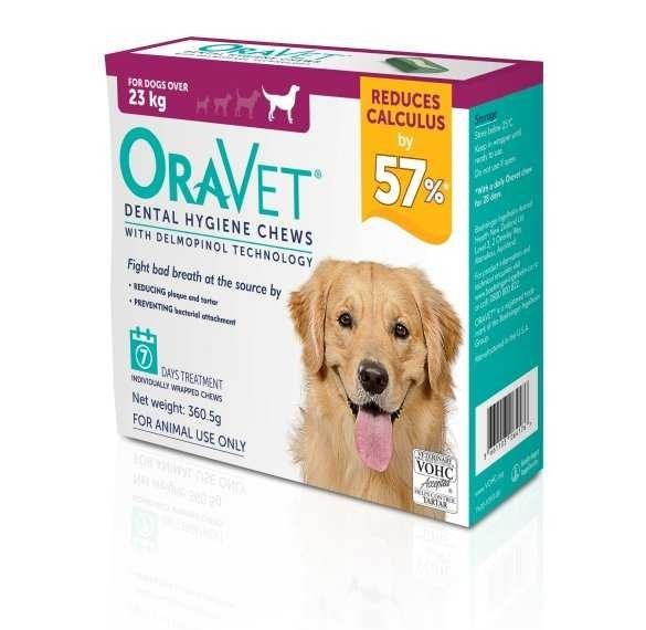 Oravet Dental Hygiene chews for L dogs over 23kg ( pack of 7 ) BUY ONE BOX GET ONE BOX FREE expires 19/12/2020