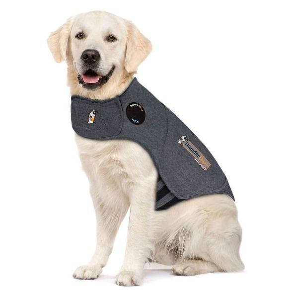 Thundershirt Grey Dog Calming Polo Grey: Large
