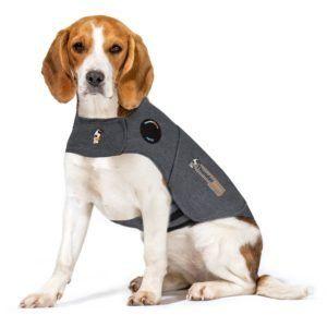 Thundershirt Grey Dog Calming Polo Grey: Medium