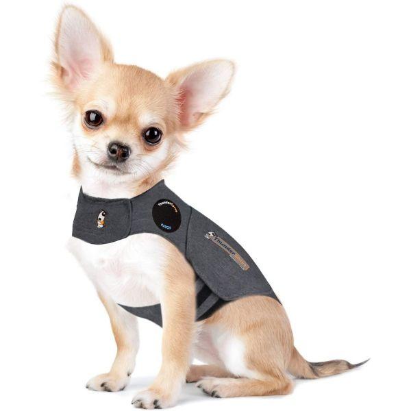 Thundershirt Grey Dog Calming Polo Grey: XS