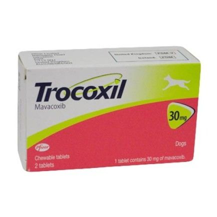 Trocoxil 30mg (box of 2 tablets) Prescription required