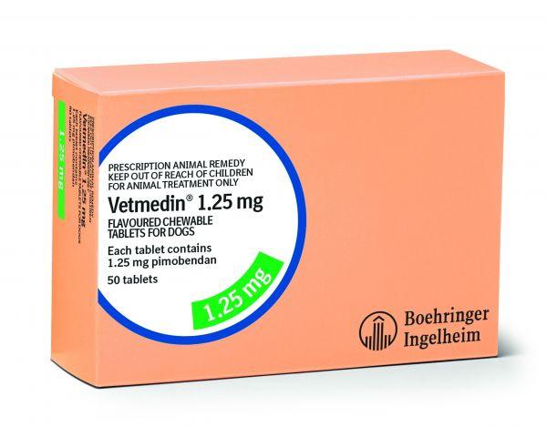 Vetmedin 1.25mg chewable (box of 50 tablets)